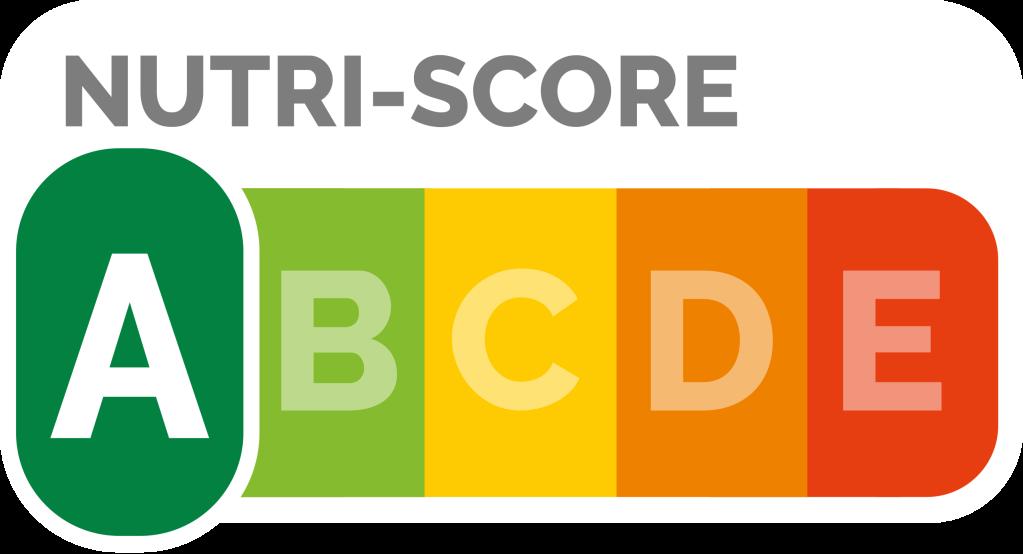 logo nutri score A à E, de vert foncé à rouge foncé